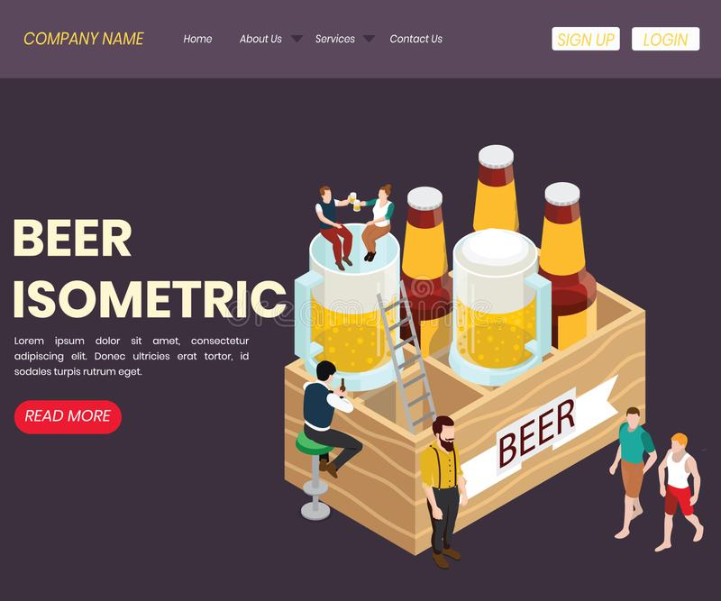 Piwo bar & Restauracyjny Isometric grafiki poj?cie ilustracji