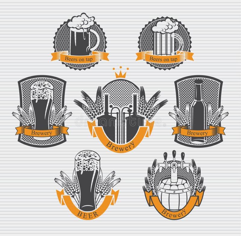 Piwo etykietki ilustracja wektor