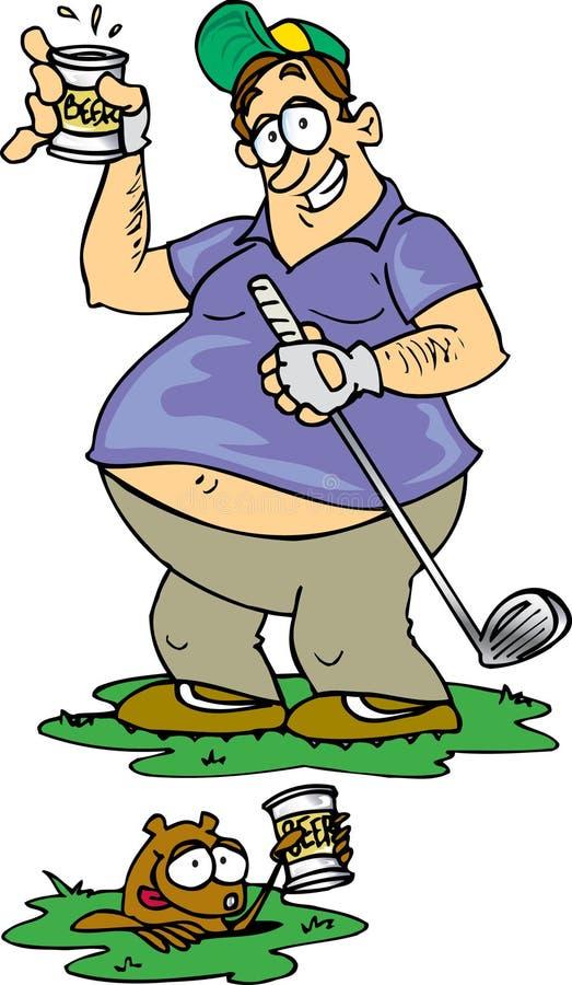 piwo golf royalty ilustracja