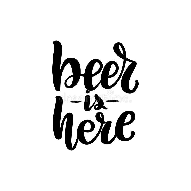 Piwo jest tutaj ilustracji