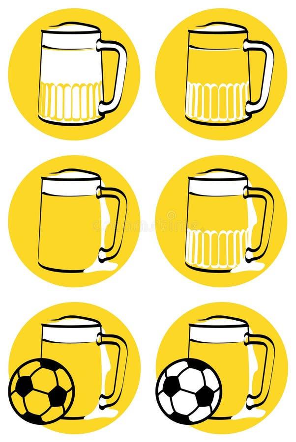 piwo napadać na kogoś kolor żółty ilustracja wektor