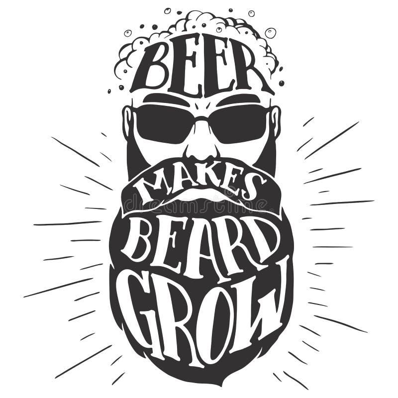 Piwo robi brodzie rosnąć Oktoberfest ilustrację ilustracji