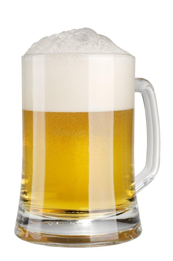 piwo spienia alkoholu lekkiego kubek obrazy stock