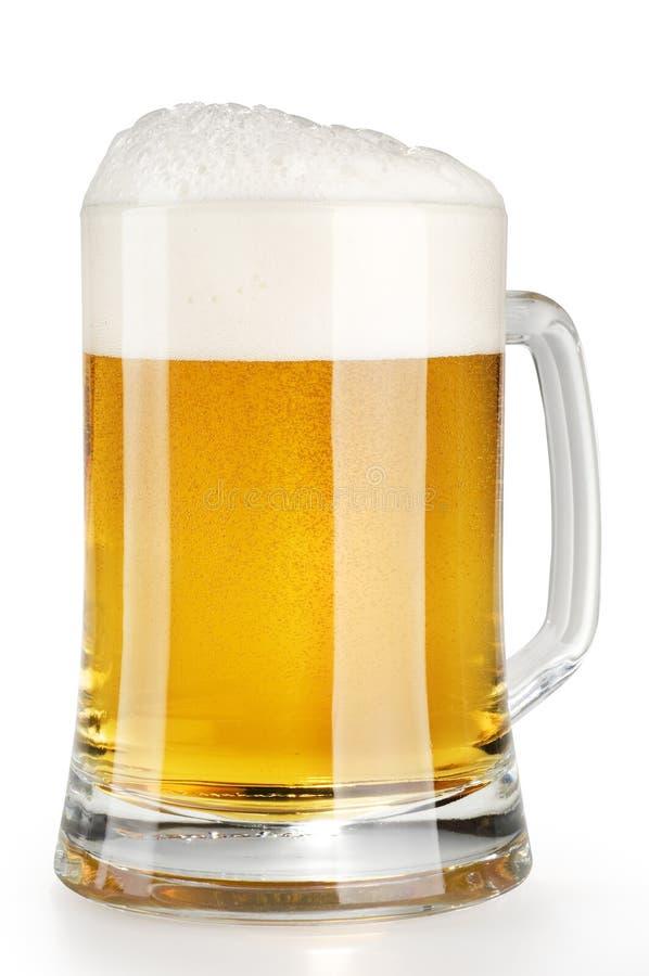 piwo spienia alkoholu lekkiego kubek zdjęcia royalty free