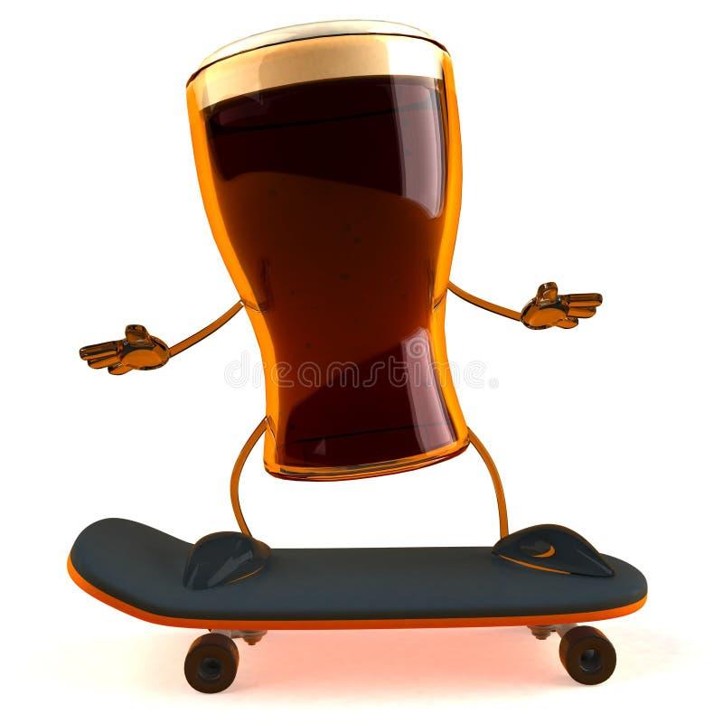 piwo szczęśliwy royalty ilustracja
