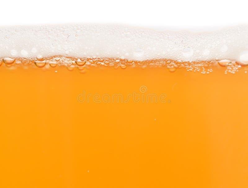 Piwo z pianą fotografia stock