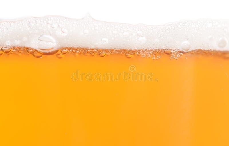 Piwo z pianą zdjęcie stock