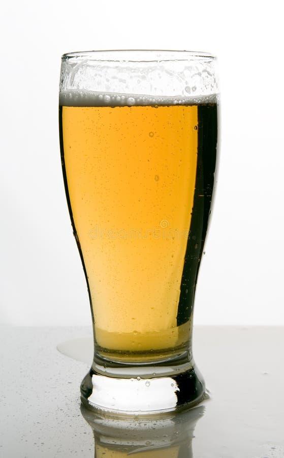 piwo zimne projektu frosty szklankę lodowatego zdjęcie stock