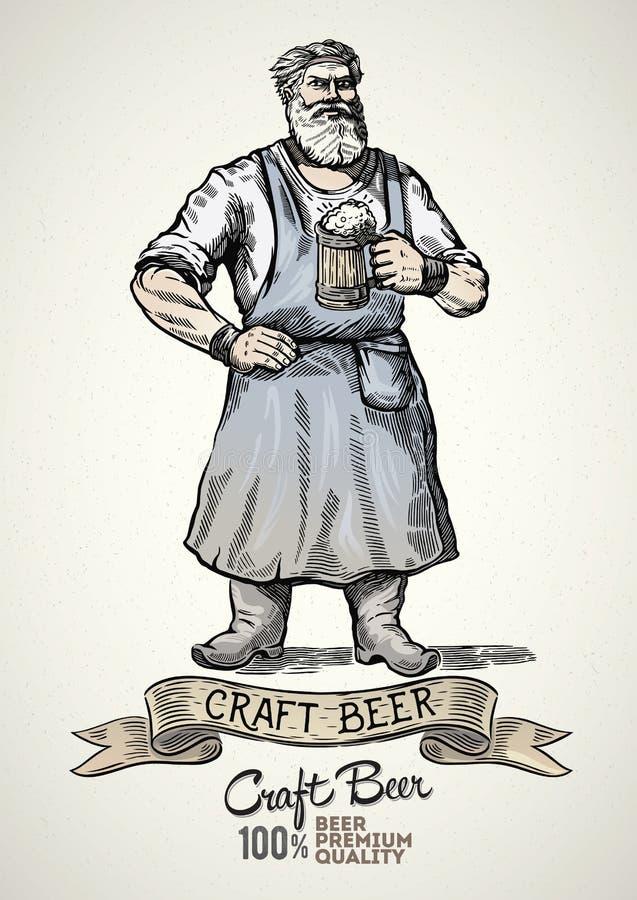 Piwowarów charaktery ilustracji