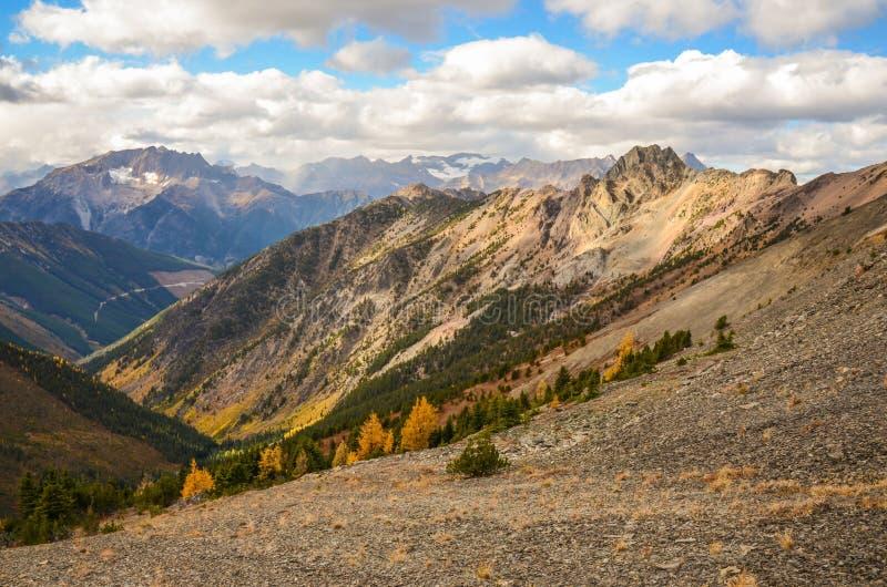 Piwowar zatoczki krajobraz w spadku, kolumbiowie brytyjska Kanada fotografia stock