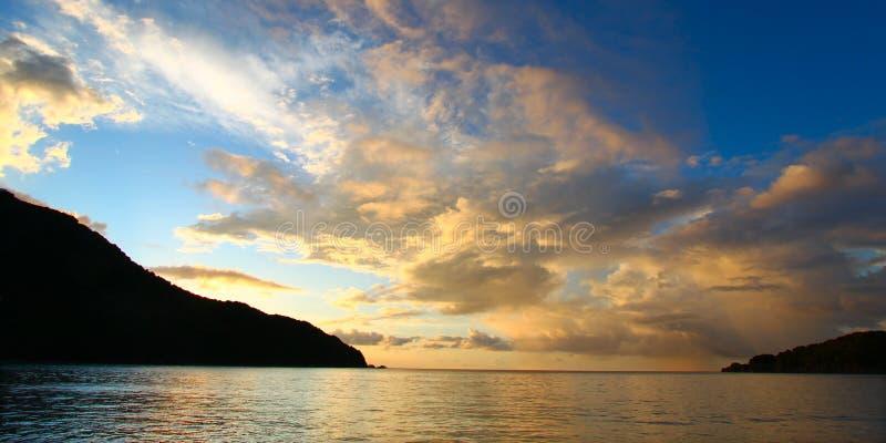 Piwowar zatoki krajobraz Tortola zdjęcia royalty free