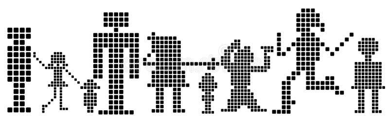 Pixéis; ilustração stock