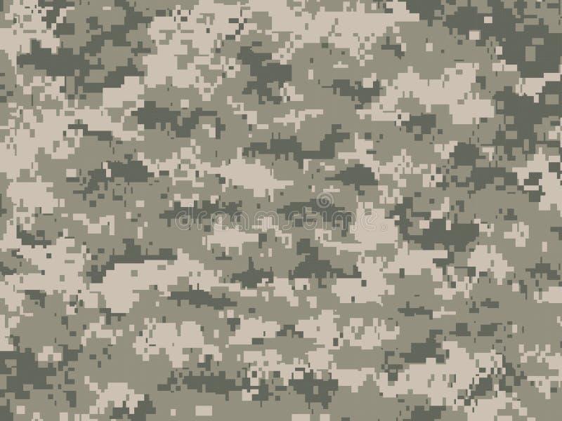 Pixéis da camuflagem ilustração do vetor