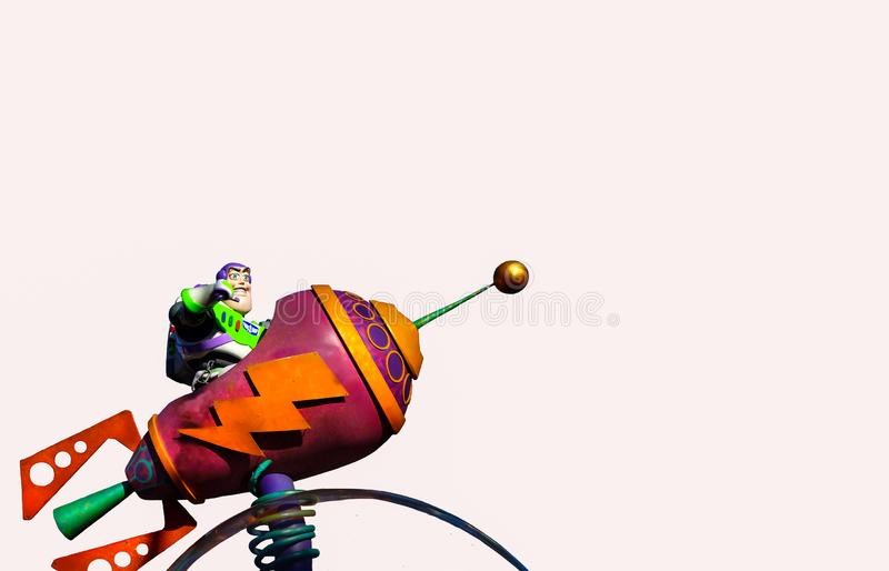Pixar Buzz Lightyear Isolated royalty free stock images