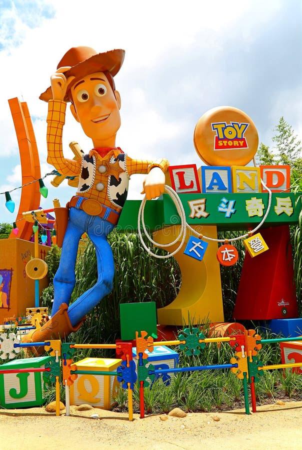 Pixar het stuk speelgoed van Disney verhaal bosrijk in disneyland Hongkong royalty-vrije stock afbeeldingen