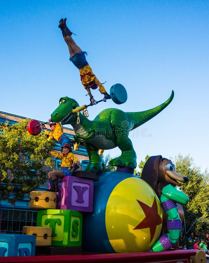 Toy Story Disneyland Parade Characters stock image
