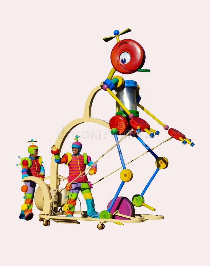 Pixar Toy Story Tinkertoy op Wit royalty-vrije stock afbeelding