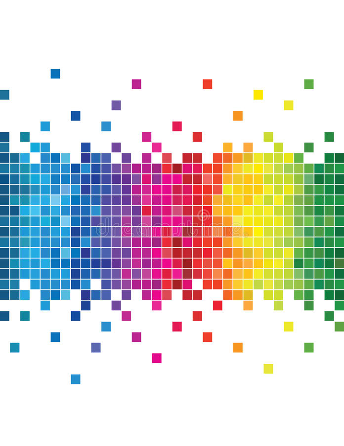 Pixel abstraits de mosaïque de couleur illustration stock