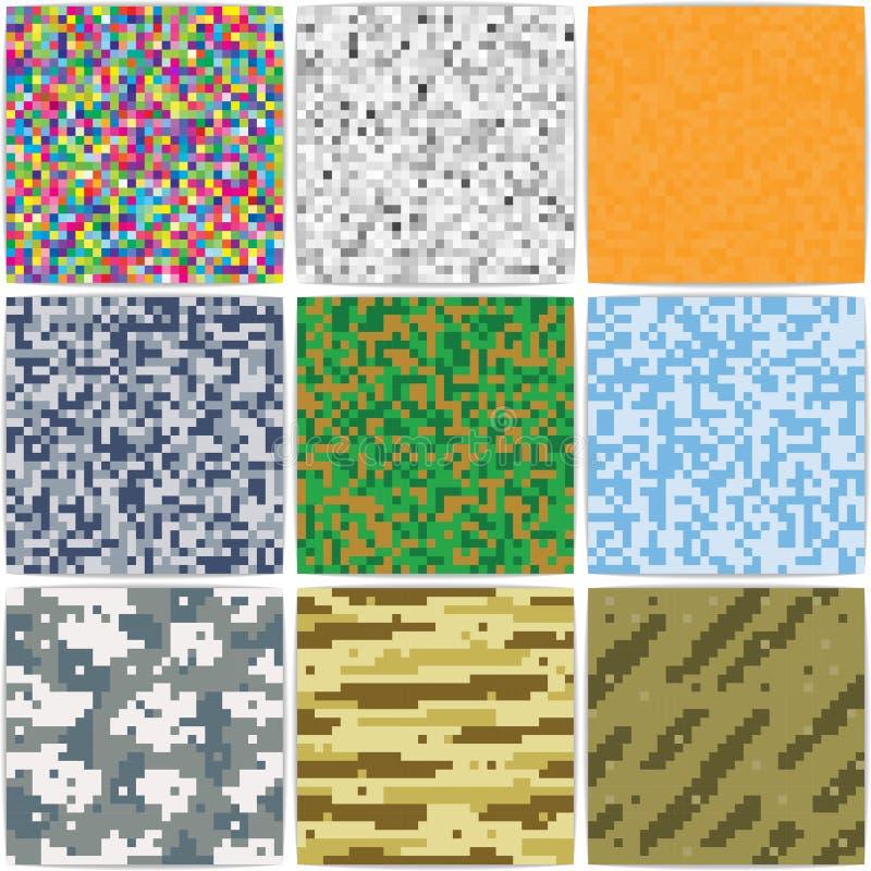 Pixel achtergrondcamouflage royalty-vrije illustratie