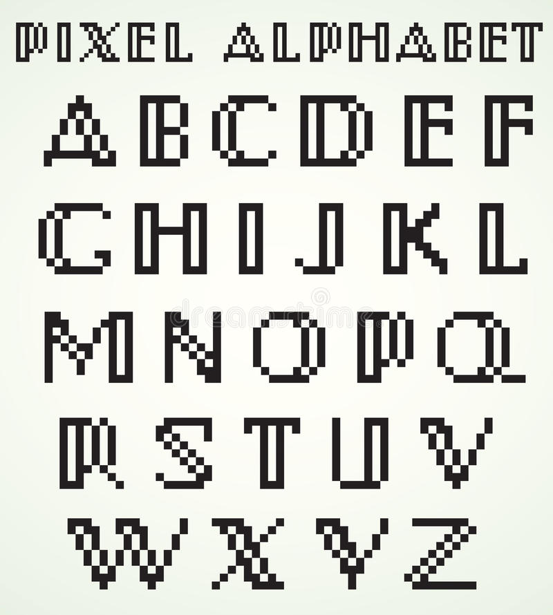 Download Pixel alphabet stock vector. Illustration of alphabet - 30296639