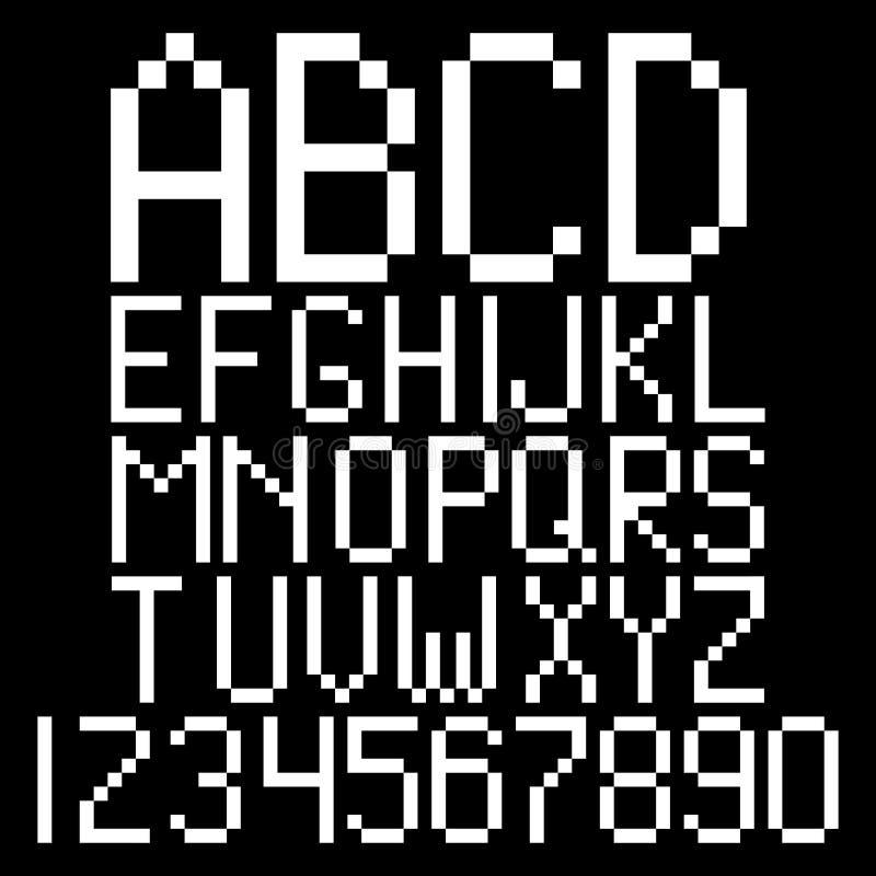 Pixel Alphabet Stock Illustration. Image Of Font, Number