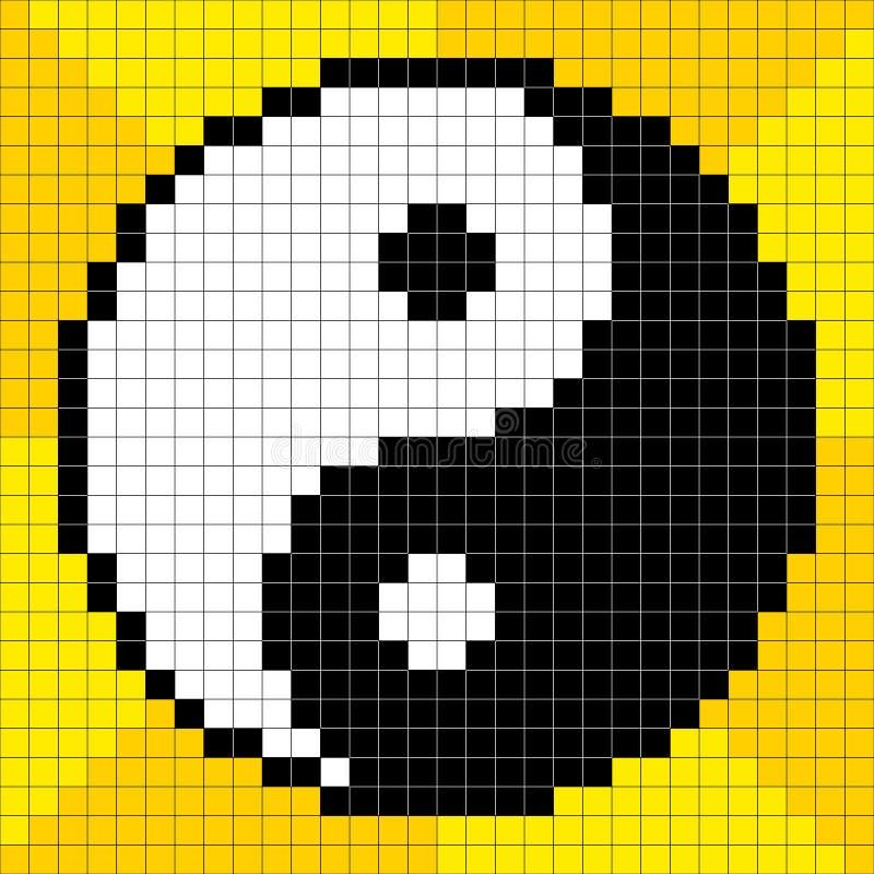 Pixel-art à 8 bits Yin Yang Symbol illustration stock