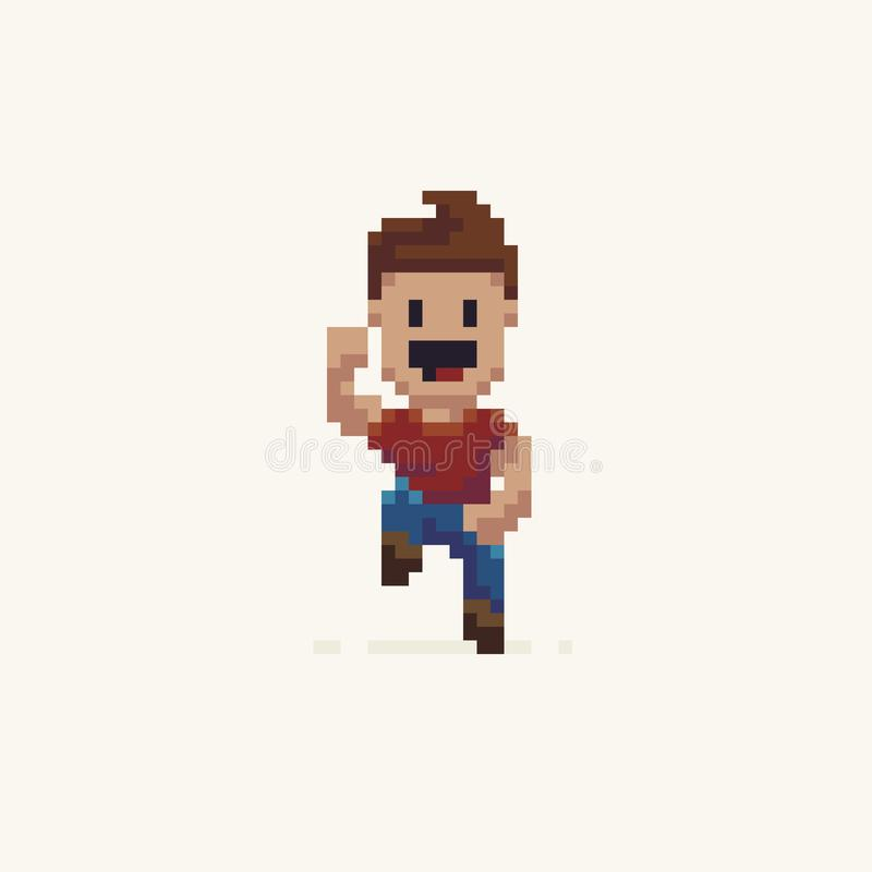 Pixel Art Character illustration libre de droits