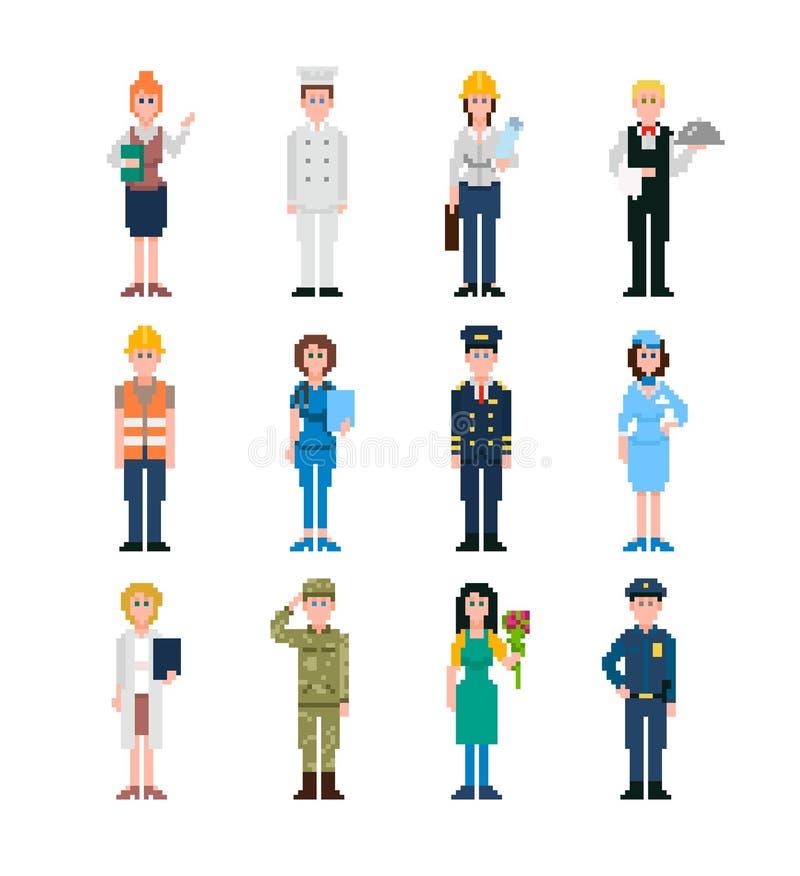 Firefighter Pixel Art Stock Vector Illustration Of