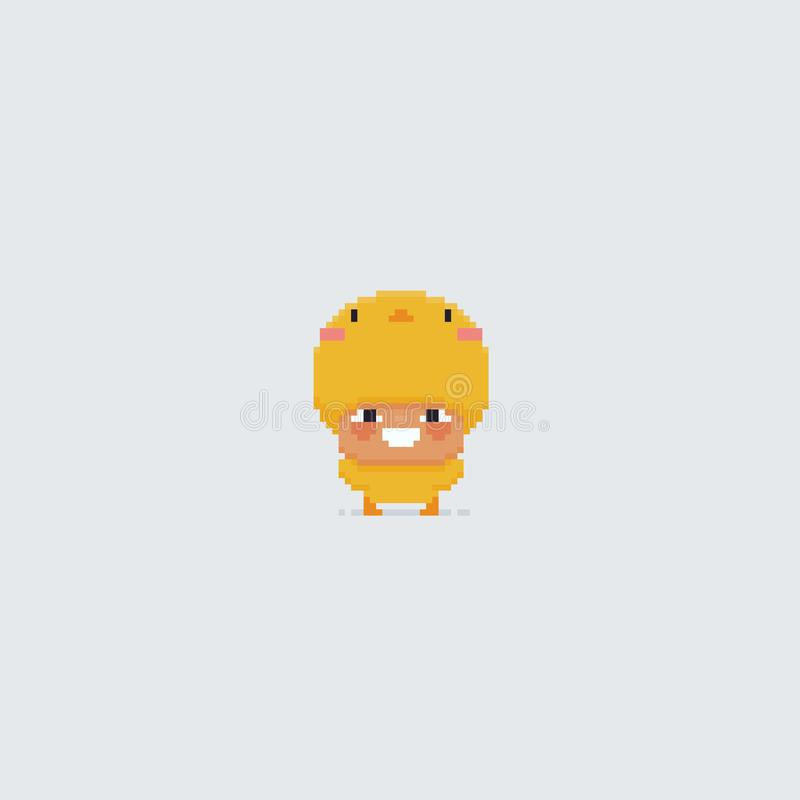 Pixel Art Chick royalty-vrije illustratie