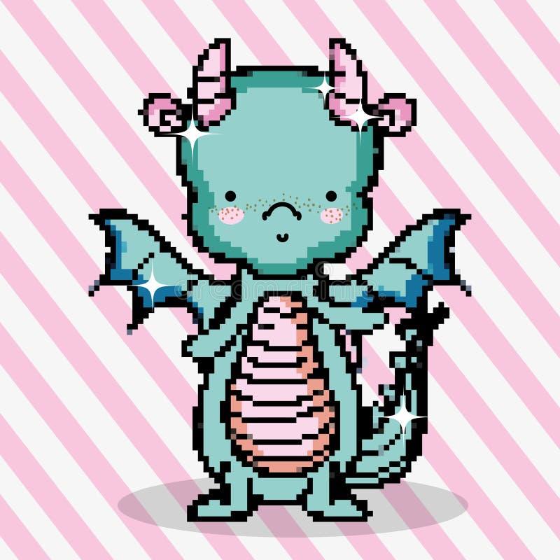 Pixel art dragon eye stock illustration  Illustration of