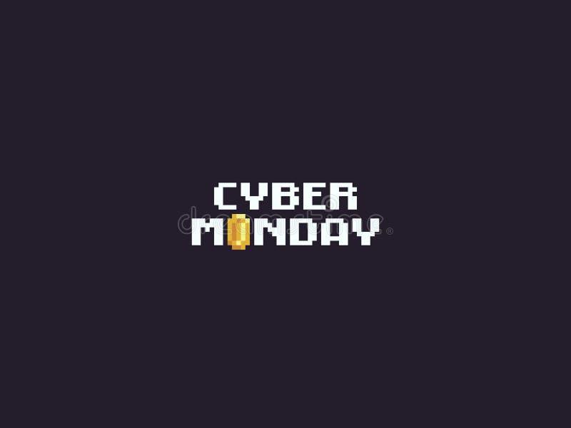 Pixel Art Cyber Monday illustration de vecteur