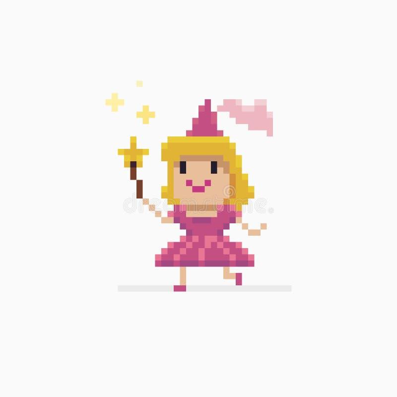 Pixel Art Fairy illustrazione di stock