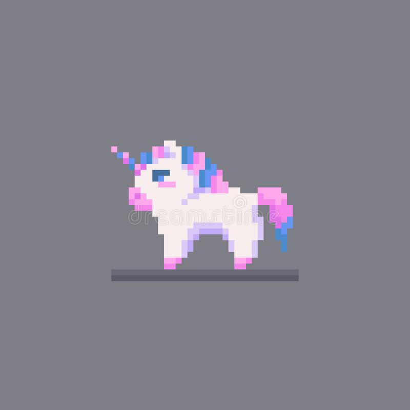 Free Pixel Art Fairy Little Unicorn Personage Stock Image - 170762411