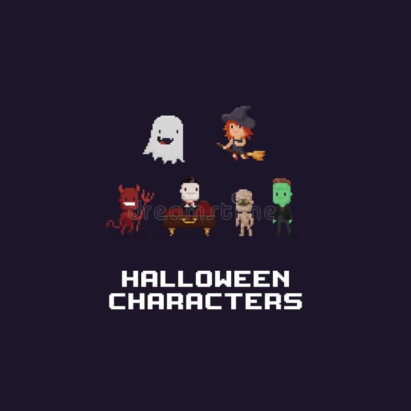 Pixel Art Halloween Stock Vector Illustration Of Graphic