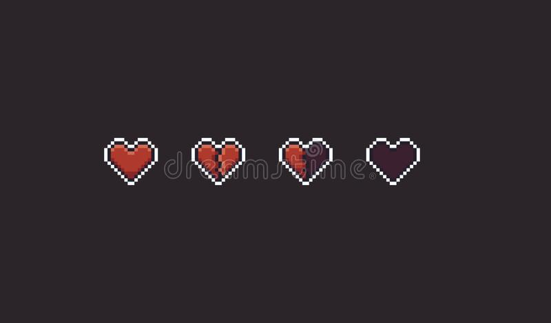 Pixel Art Hearts ilustração do vetor