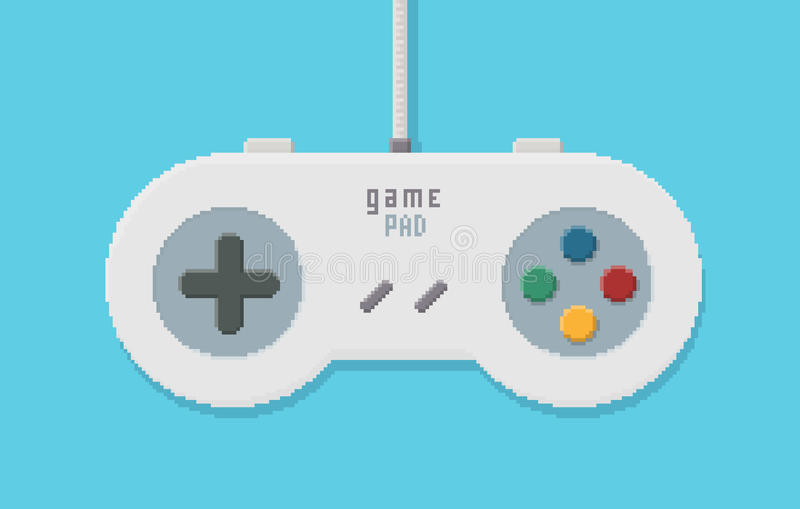 Pixel Art Illustration de Gamepad illustration de vecteur