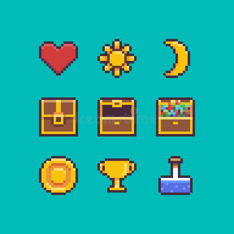 Pixel Art Interface ilustración del vector