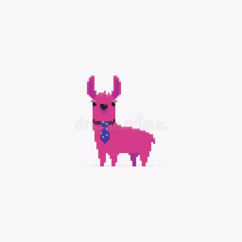 Pixel Art Lama stock de ilustración