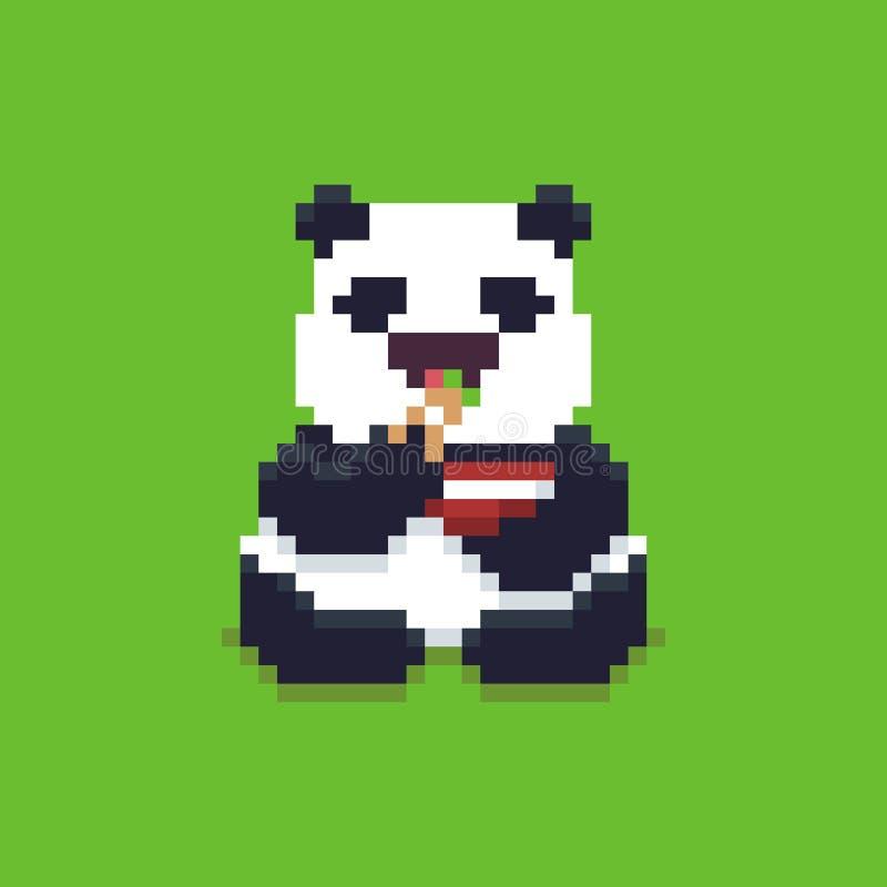 Pixel Art Panda Illustration De Vecteur Illustration Du