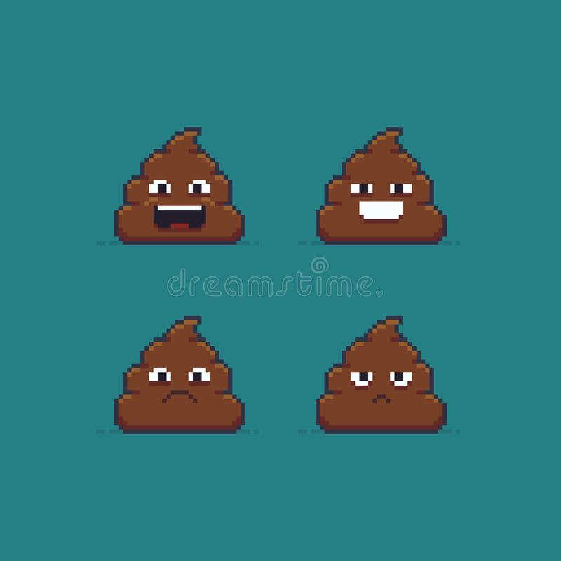 Pooping Emoticon Stock Vector Illustration Of Emotion