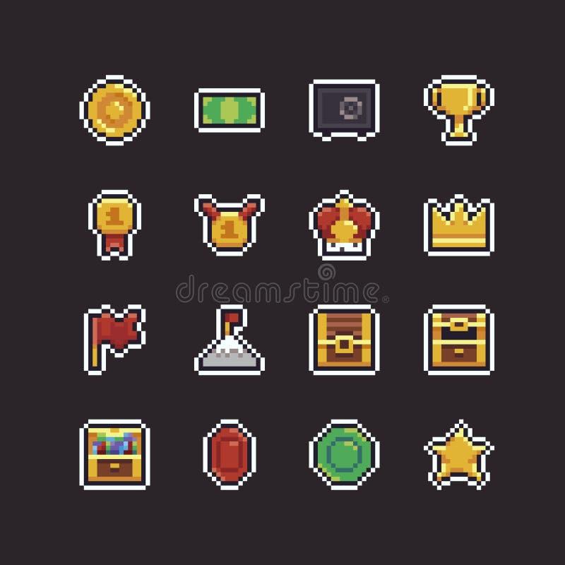 Pixel Art Rewards illustration de vecteur