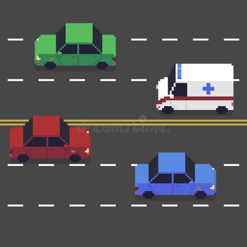 Art Coloré De Pixel De Vecteur De Collection De Voitures De