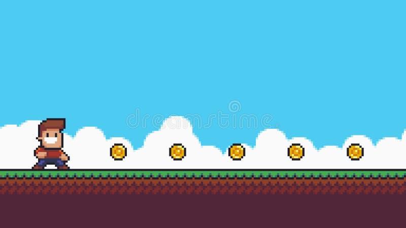Pixel Art Scene illustration de vecteur