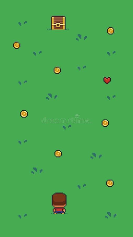 Pixel Art Scene illustration stock