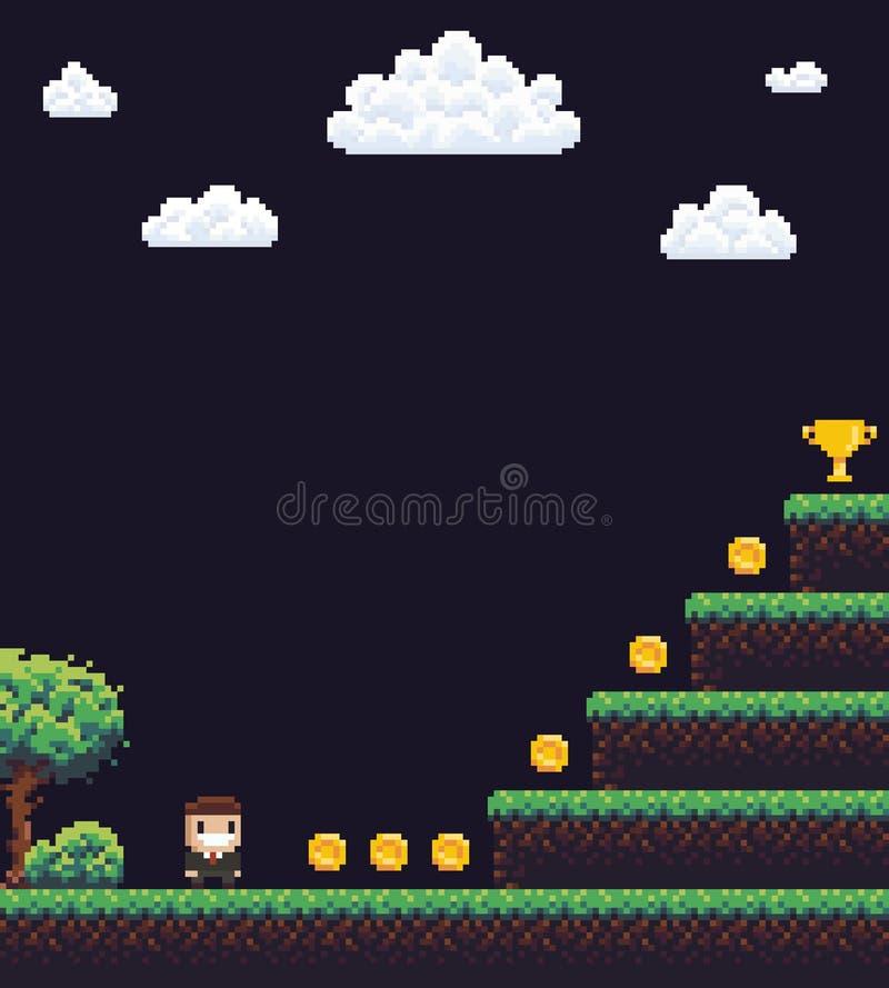 Pixel Art Scene royalty free illustration