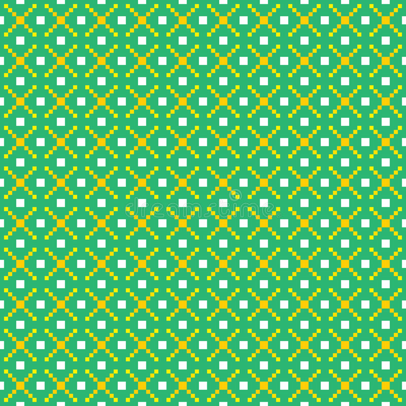Pixel art seamless vector pattern vector illustration