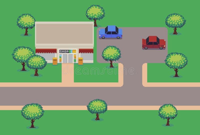 Pixel Art Shop illustration de vecteur