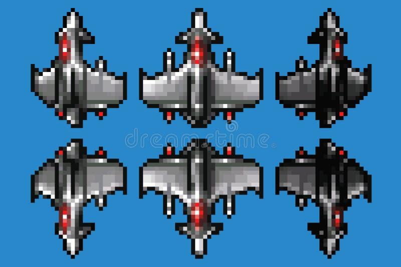 Pixel Art Space Stock Illustrations 9837 Pixel Art Space