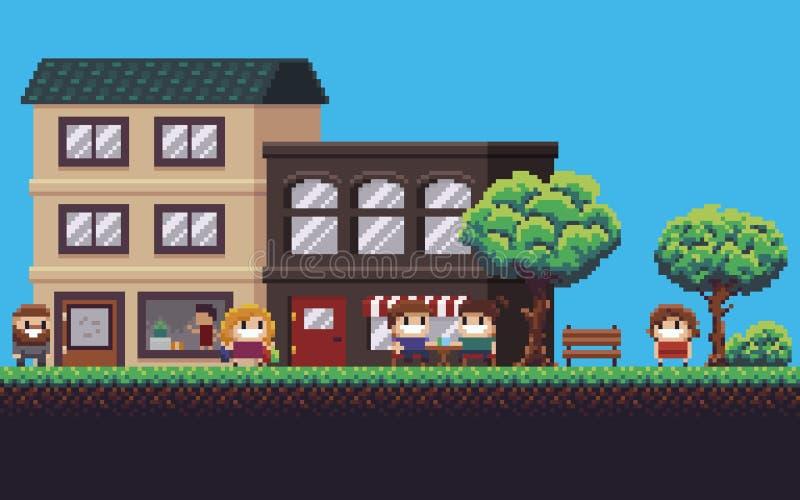 Pixel Art Street libre illustration