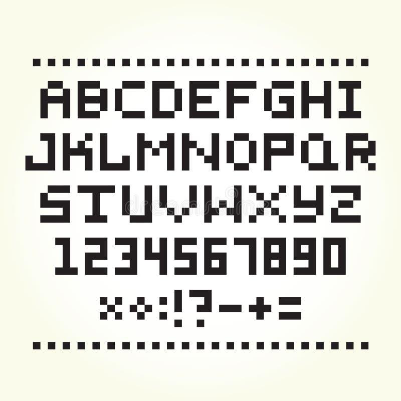 Pixel Art Style Font Vector Stock Vector